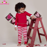 2017 Family Christmas Pajamas Boys&Girls Stripe Sleepwear Long Sleeve Kids Pajamas Set