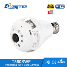 3W White Fisheye WiFi Light Bulb Light Wireless Spy Hidden Camera with low prices