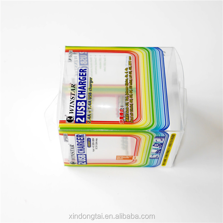 plastic packaging with window for hair clip