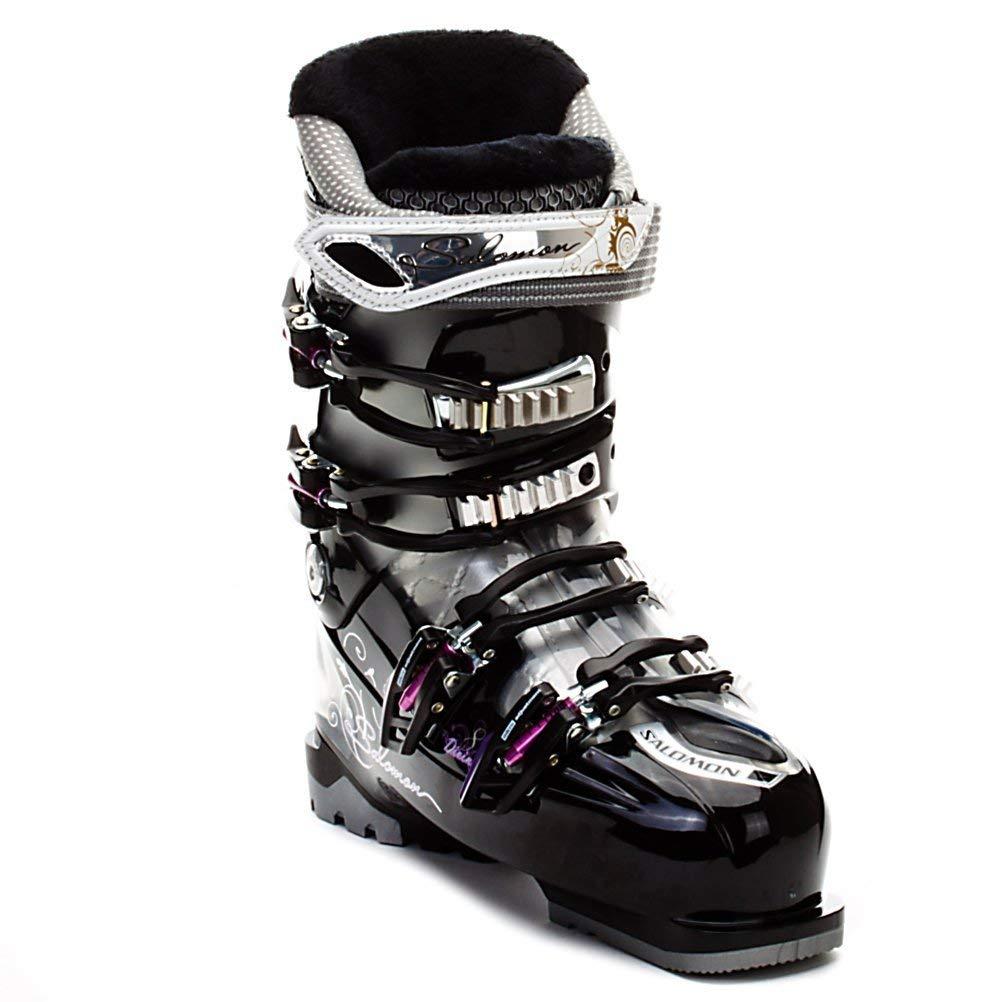 6d8c42304623 Get Quotations · Salomon Divine RS8 Women s Ski Boots 2012 - Size 25.0 -  Black Silver Purple