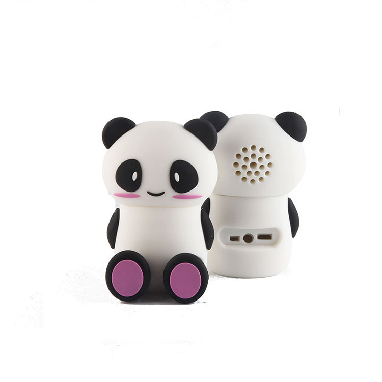 Panda Shape 휴대용 Audio Player rohs silicone USB bluetooths 스피커