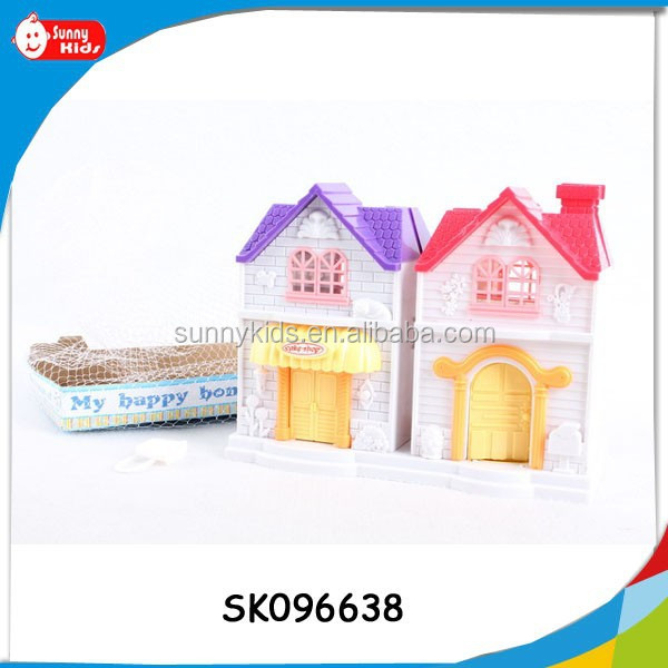 furniture toys plastic house toys with light and music