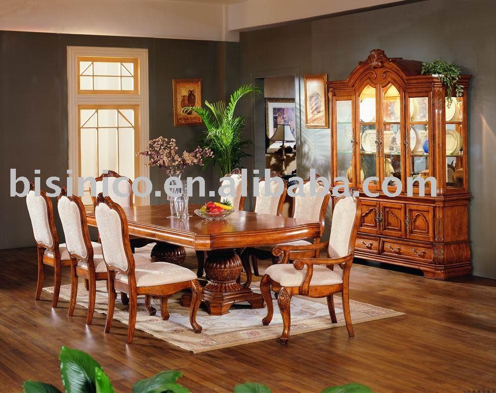americana de madera maciza y tallado a mano muebles de comedor mesa comedor silln with mesas de comedor de madera antiguas