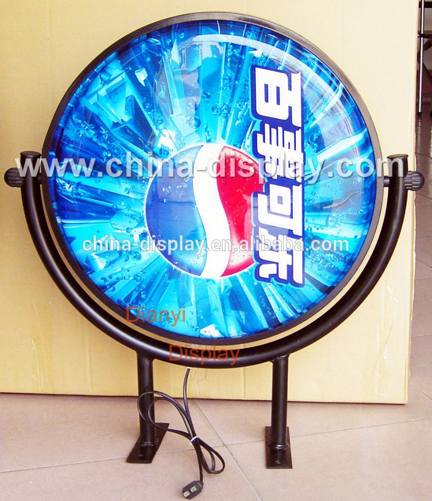 Hot round shape and rectangle shape outdoor vacuum forming light box
