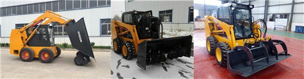 Utility diesel engine Hysoon skid steer loader for sale