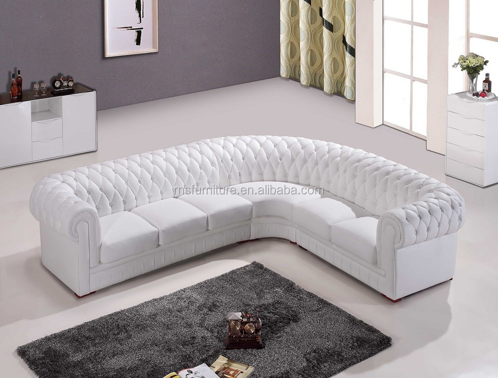 Chesterfield sofa weiss  Rns Classcial Leather Chesterfield Corner Sofa A02 - Buy ...
