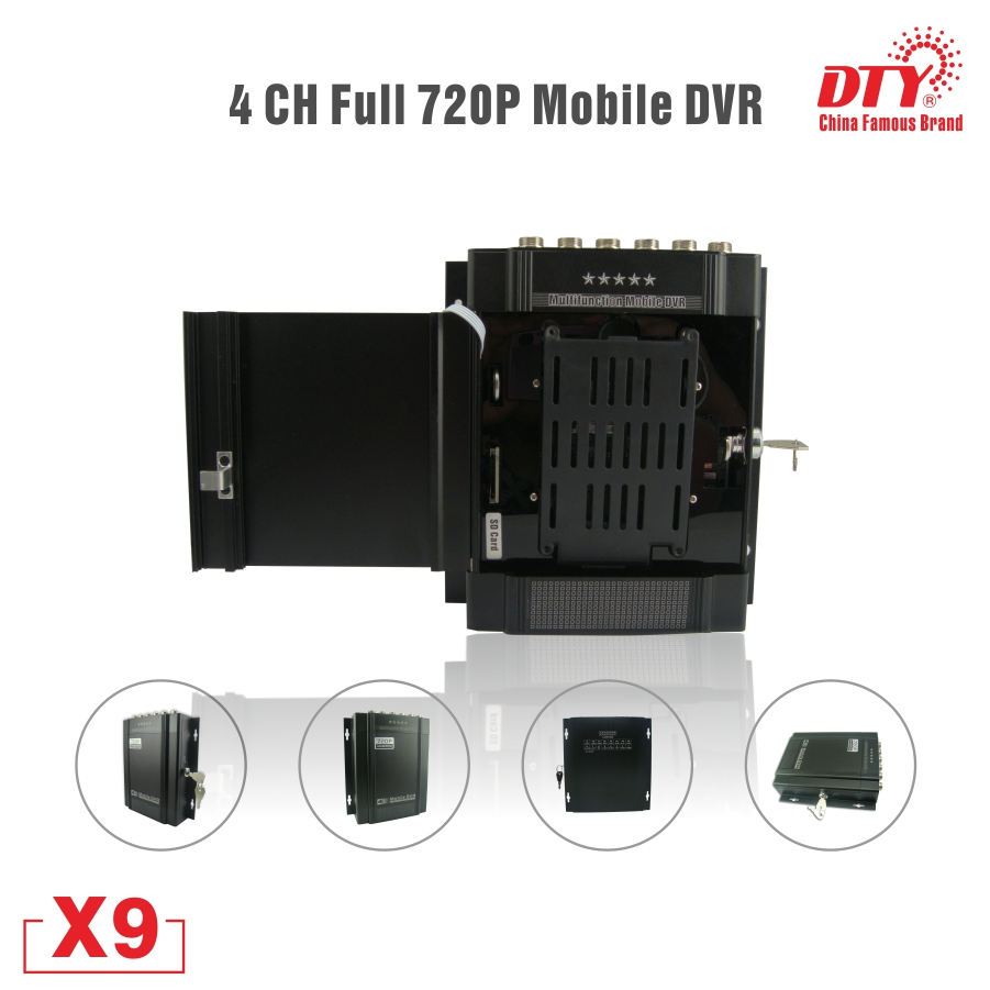 Video blind function sd car player recorder ahd mobile dvr, hdd mobile dvr