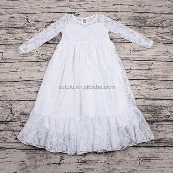 c5d1102d0f9 lovely White Baby Girl Party Dress Design Kids white lace flower girl dress  for wedding