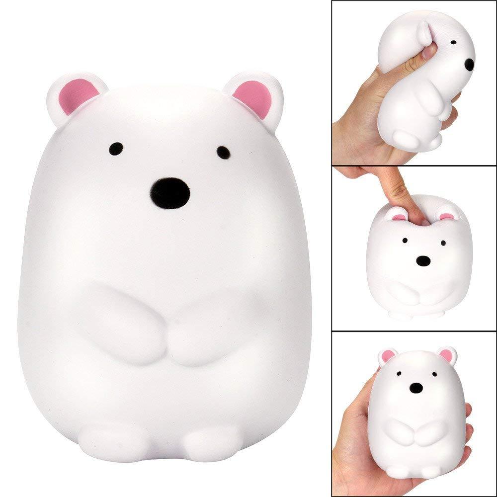 USHOT Clearance 12cm Jumbo Squishy Cute Polar Bear Cream Scented Squishies Slow Rising Charm Toy
