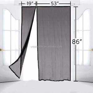 Magnetic Screen Door for French Doors Hands Free Instant Mesh Mosquito & Bug Net Curtain