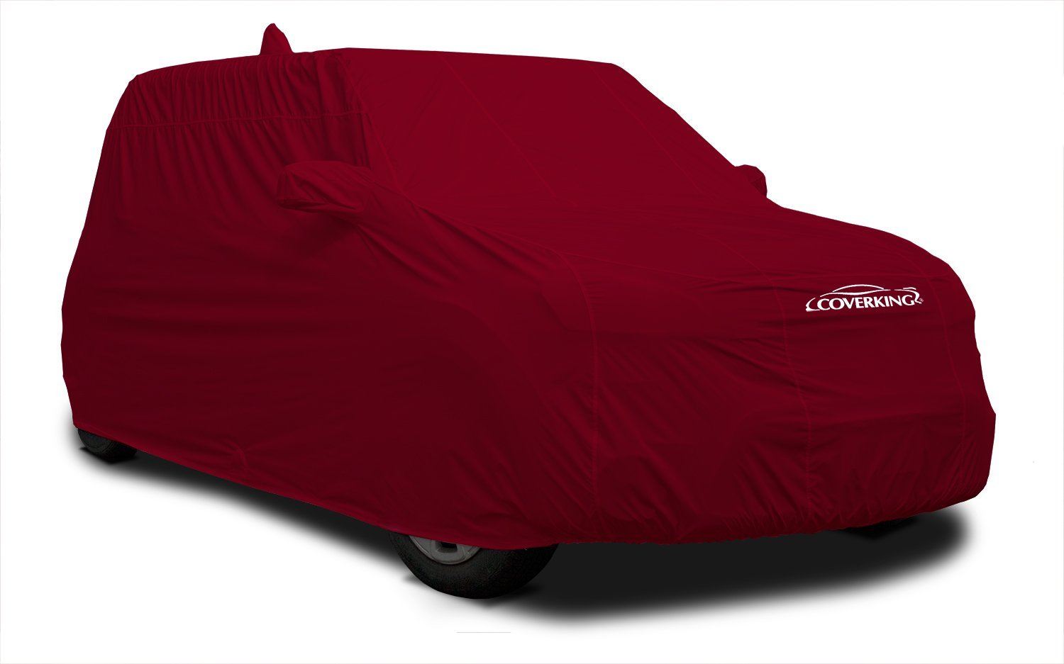 Coverking Custom Fit Vehicle Cover for Select Fiat 500 Models - Stormproof (Red)