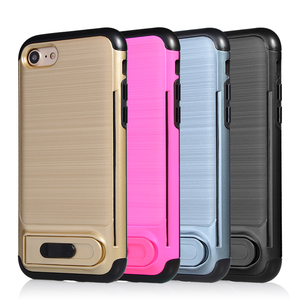 Full Protective Ring Armor Hybrid TPU PC Shell Case for iPhone 6 6S with OEM ODM Designs