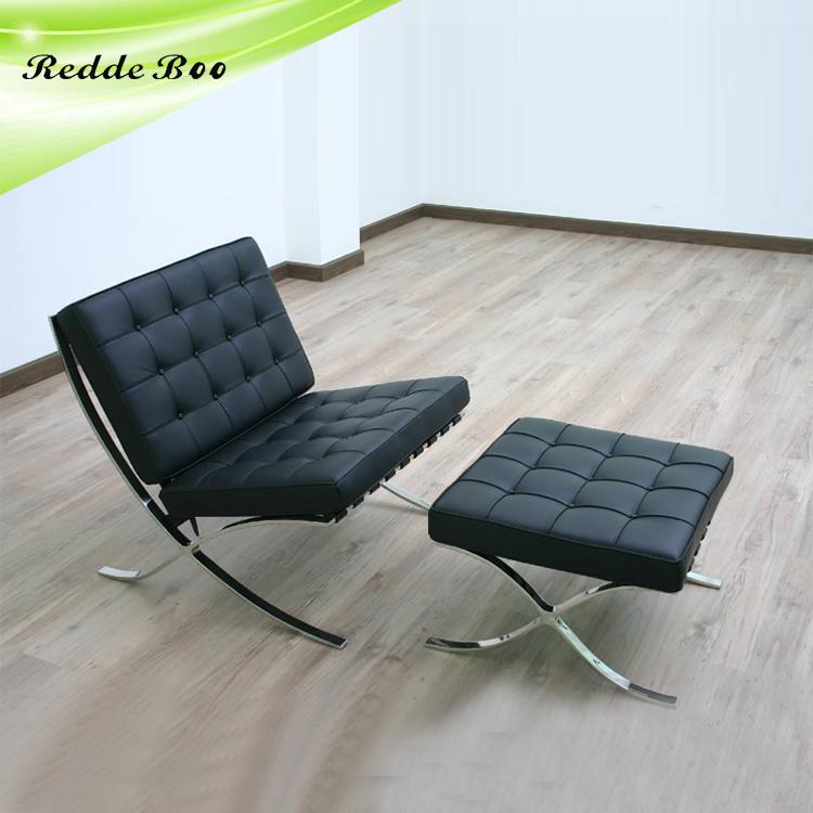 Encantador Muebles De Cuero Blanco Otomana Patrón - Muebles Para ...