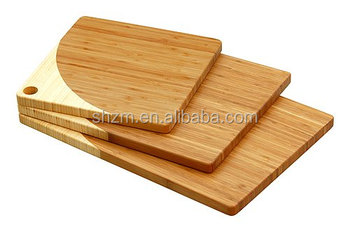 Wholesale Kitchen Accessories Set 3 Piece Durable Bamboo Cutting