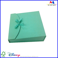 Fancy design small aqua paper jewelry gift box for rings,necklaces, earrings,bracelets