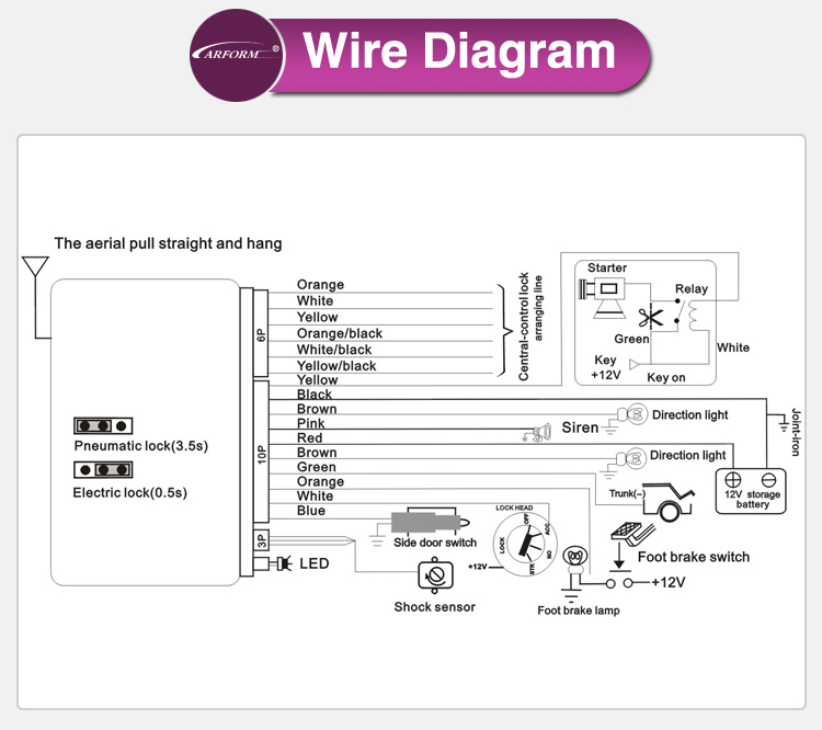 Car Alarm Shock Sensor Wiring Diagram Example Electrical
