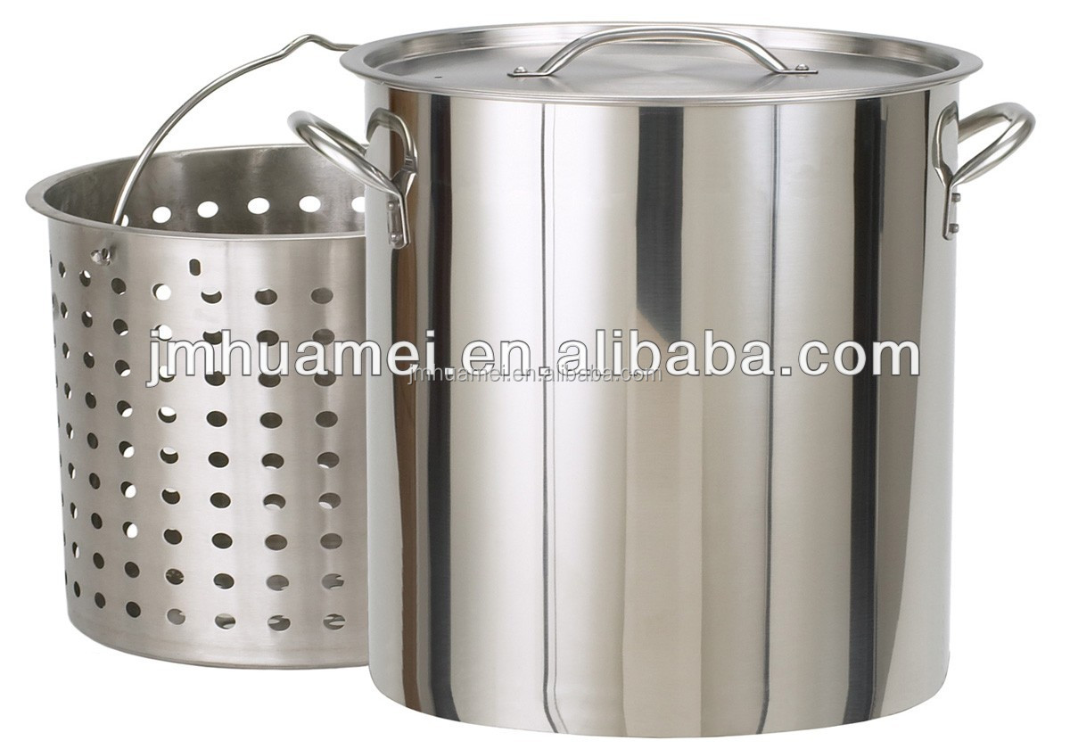 Industrial Large Stainless Steel Cooking Pots For Crab And ...