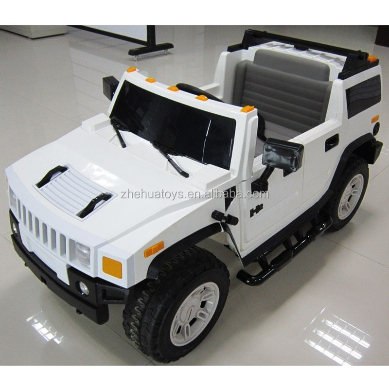 Kids Battery Operated Toy Cars Ride On Hummer Car Toy With 2 Seaters