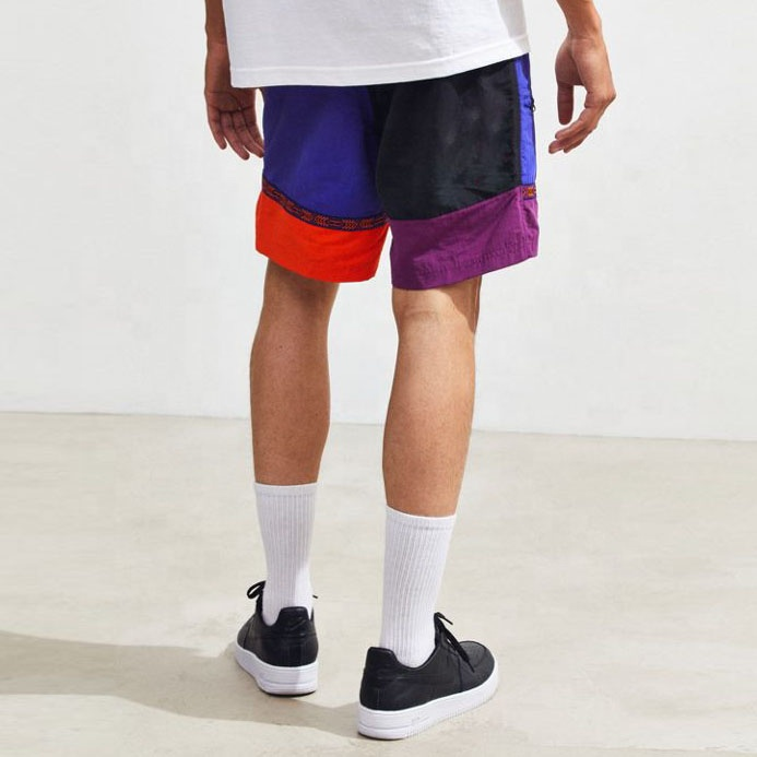 패션 Function Athletic Panelled 망 Gym Running Nylon Shorts
