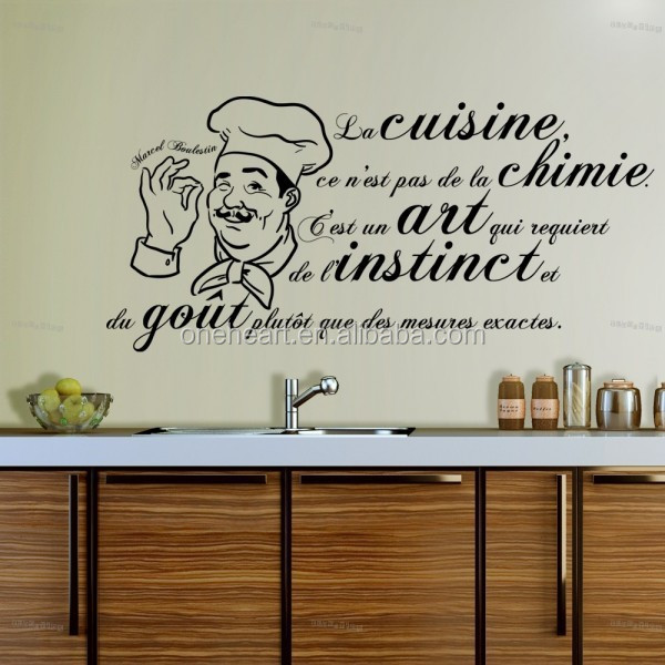Amovible vinyle accueil wall sticker cuisine wall sticker for Proverbe cuisine humour