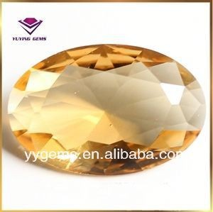 china hot sale cheap price amber faceted glass stone for jewerly