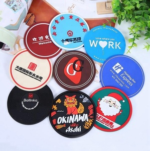 Customized Size Restaurant Advertisement Promotion PVC Coaster/Cup Mat