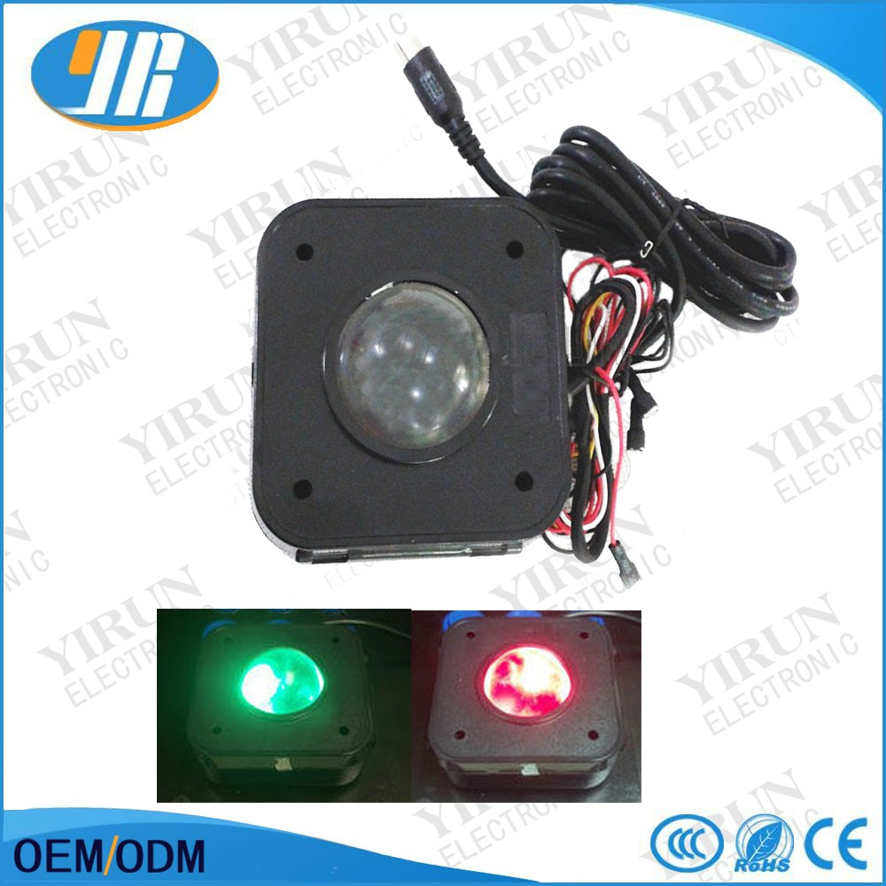 lluminated 4.5cm round arcade game lit LED trackball mouse Jamma pcb connecto BE