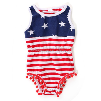 1e98ee42a1c4 Patriotic July 4th Boutique Clothing Plain Baby Wholesale Rompers ...