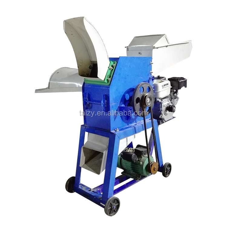 Corn straw silage Fodder cutting and crushing machine