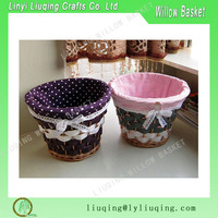 Wicker Fancy Easter basket with gingham liner,floral display,accent,WICKER Easter egg pail Basket