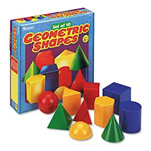 Learning Resources® - Large Geometric Shapes, for Grades K and Up - Sold As 1 Set - Set of ten plastic geometric shapes.