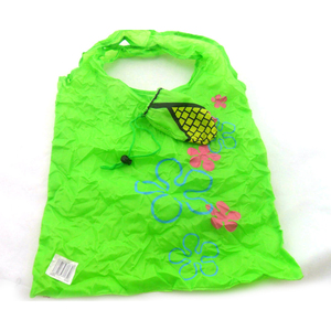 custom printed logo 190t polyester shopping eco recycle foldable storage bag