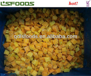 IQF frozen diced pumpkin