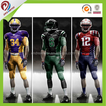 653bcf818bd Latest new custom design youth Sublimated Polyester College American football  uniforms