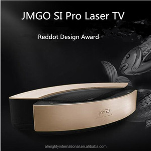 JMGO SI Pro Laser Television with Android WIFI and HIFI Speaker 4000 ANSI Lumens which winned Reddot Design Award
