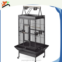 Thickened Metal Folding Parrot Cage with Popcorn black Color