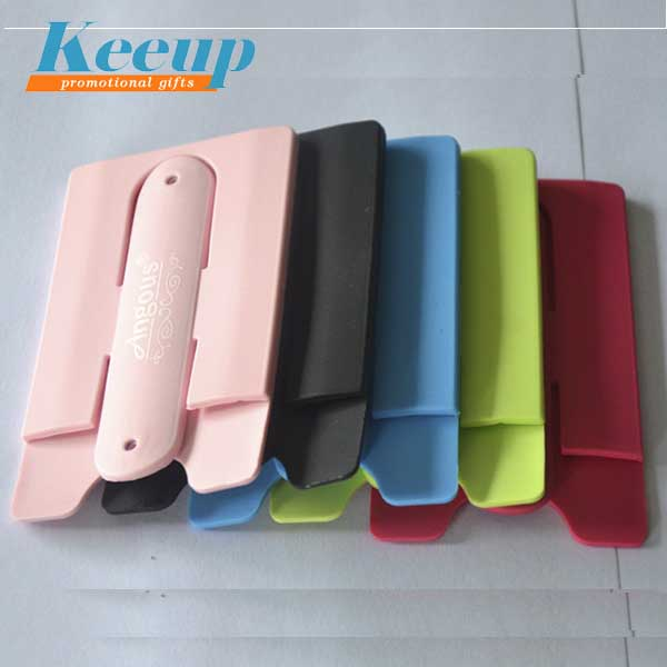 New Gift Silicone Smart Wallet With Snap Stand for Cell Phone