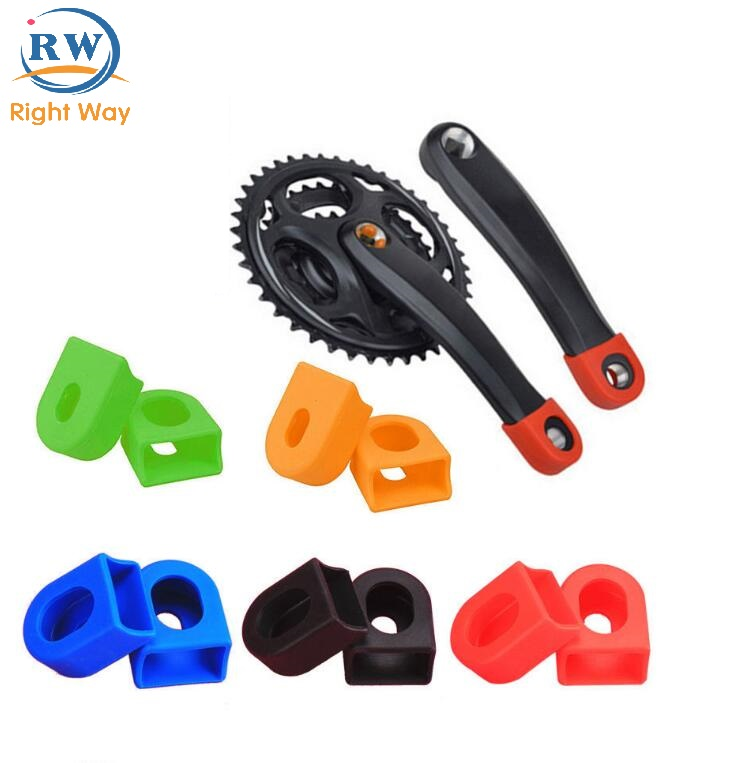 Bike accessories silicone protective cover bicycle cycling crankset crank sleeve cover