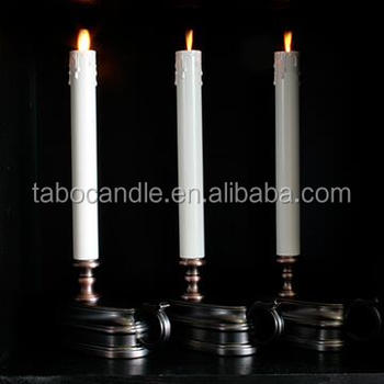 Battery Operated 12 Inch Plastic Taper Candles