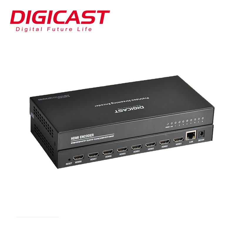 DMB-8808A-EC IPTV/OTT del sistema Full HD in H.264 Mpeg Video Encoder per HTTP/RTMP/RTSP/UDP IP IPTV In Streaming Encoder