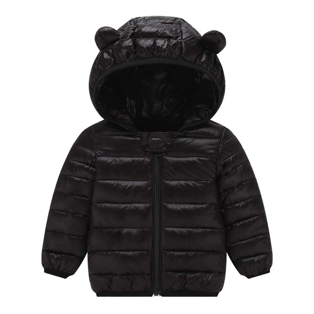 Sweety Baby Boys 3 Button Fleece Padded Hood 2 Pocket Solid Color Duffle Coat