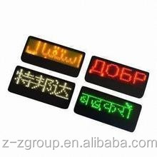 Indoor mini Led Display Board Name Badge fatory