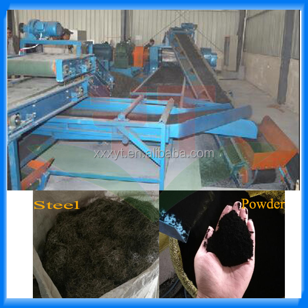 Continuous process tire recycling machinery/recycled waste tyres to fine crumb rubber project