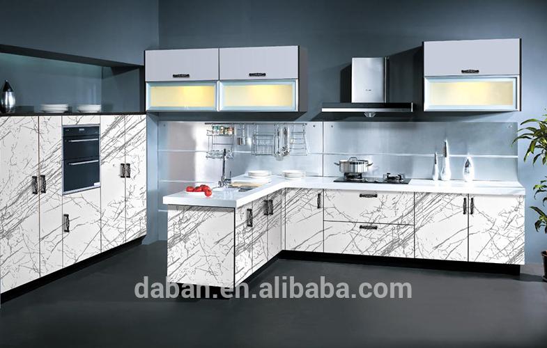 moderno gabinete de cocina de alto brillo acrílico del gabinete de ...