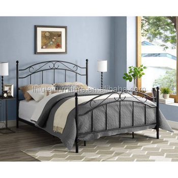 Twin Size Metal Bed Frame Including White Single Metal Headboard A