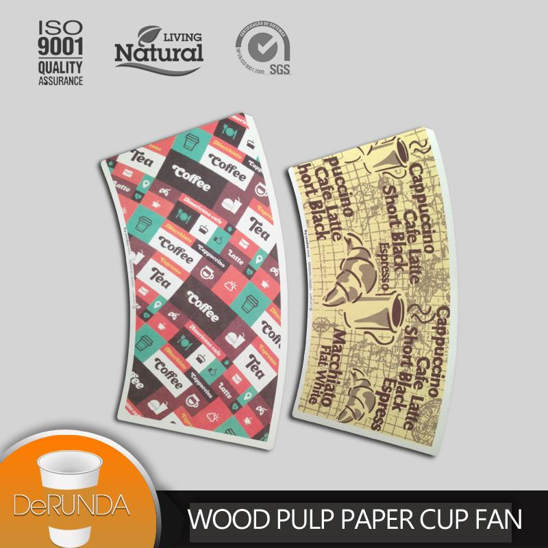 alibaba online shopping color printed double wall paper cup fan with box package and free sample