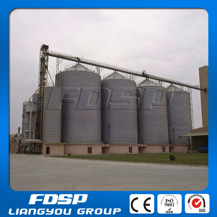 Flat Bottom Base Groundnut Storage Silo With Drying System