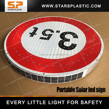 Solar integrated weight limit Road sign Durable custom reflective adhesive weight limit warning sign