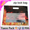 Yason rope handle gift plastic bag ziplock reclosable polythene bags autoclavable biohazard plastic bag