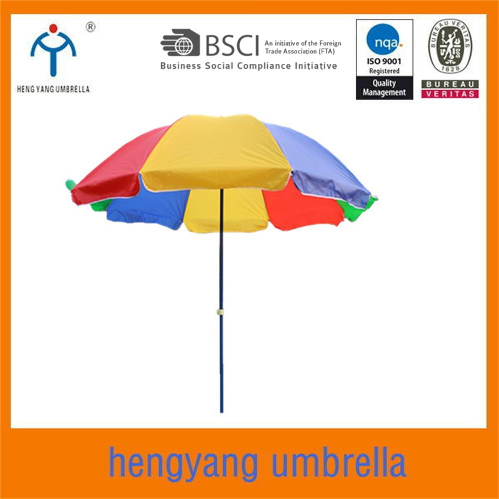 240cm*8k Custom double ribs beach umbrella windproof parasol for promotion